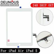 Новинка для iPad Air 1 iPad 5 сенсорный экран дигитайзер без кнопки Home Переднее стекло дисплей Сенсорная панель Замена A1474 A1475 A1476