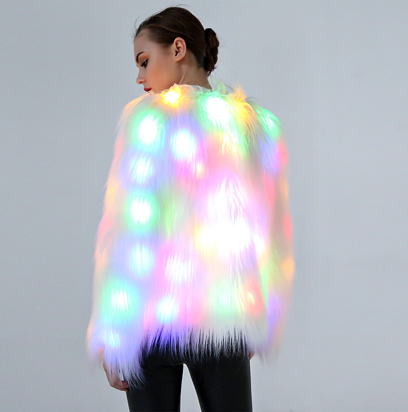 2018 new LED luminescent Cosplay women's clothes Halloween costumes for Christmas Night field dress with color lamp stage dress-in Glow Party Supplies from Home & Garden    2