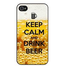 """Keep calm and drink beer"" case for iPhone 5 6 7 6S SE 5C 5 4S 4 7 Plus"