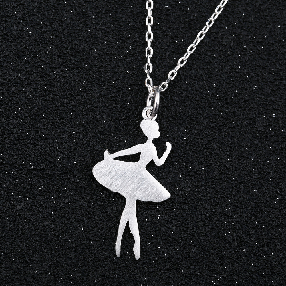 SMJEL Chain 2017 Ballerina Necklace Wonder Women Ballet Pendants Necklaces Dancers Accessories Jewelry Girl Party Gifts SYXL064