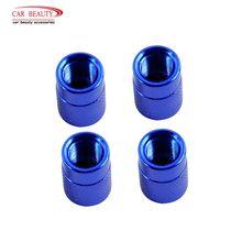 Valve-Stem-Caps Car-Tyre-Valve-Covers Auto-Accessories Tire Dustproof Blue for 4pcs/Lot