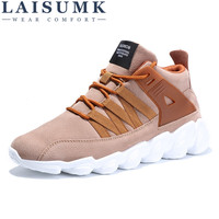2018 LAISUMK Winter New Style Men Casual Shoes Lace Up Comfortable Fashion Men Shoes High Quality