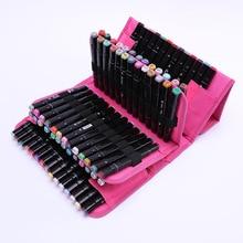 Caso marcador para a escola lápis caso grande 80 buracos profissão arte penal marcador de armazenamento caneta saco menina menino caixa de papelaria
