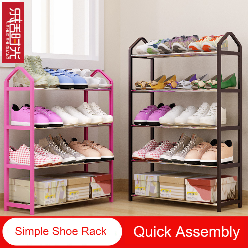 Simple Shoe Rack Multilayer Steel Assembly Shoes Shelf Removable Shoe storage organizer Living Room Home Furniture Space Saving continental iron shoe multilayer simple stainless steel dust storage shoe iron shoe rack folding shelves