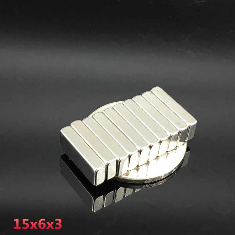 """10 יחידות מגנט Neodymium 15x6x3 מ""""מ עגול דיסק N35 סופר חזק מגנטים 15*6*3mm מגנטים נאודימיום כדור הארץ נדירה חזק 15x6x3mm"""