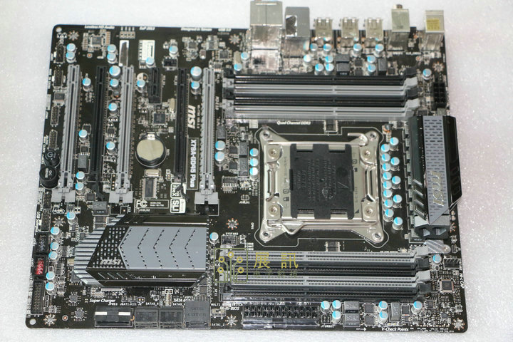MSI The X79A-GD45 Plus 2011 pin motherboard supports the I7 3960X ES Server CPU