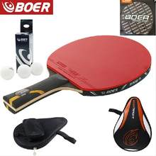 New design table tennis racket 9 layers long handle and short handletennis table racket(China)