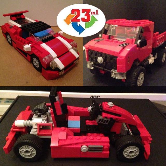 Decool 3110 Architect Vehicles DIY Race Truck building bricks blocks New year Gift Toys for children Model Car ZZ60