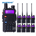 8 peças/lote interphone baofeng uv-5r walkie talkie vhf 136-174 mhz & UHF 400-520 MHz Dual Band Rádio Portátil 5 W Rádio Em Dois Sentidos