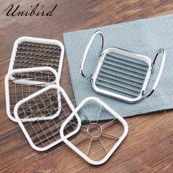 Unibird 5 en 1 acier inoxydable coupe-copeaux de pommes de terre fruits légumes trancheuse pomme Corer couteau accessoires de cuisine outil de coupe