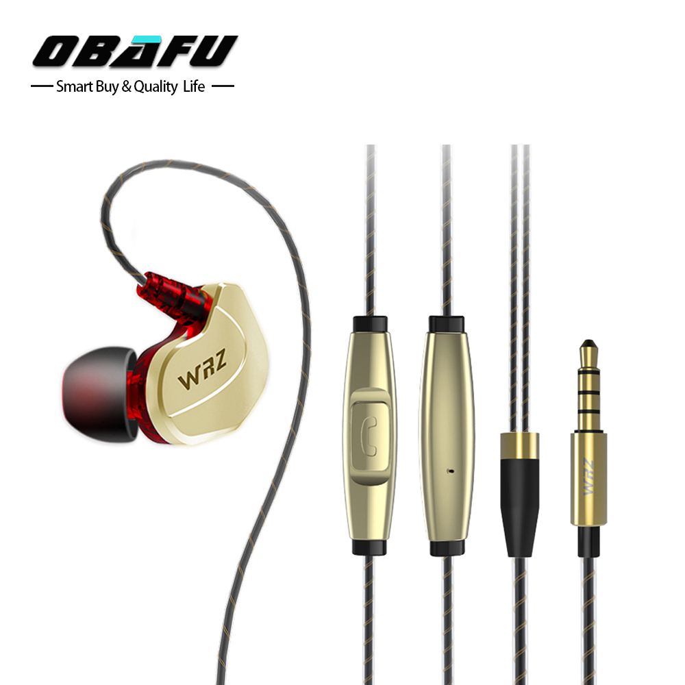 Original WRZ Updated X6 In-Ear HIFI Earphone Zircon Sports Bass Noise Cancelling Earphones With Microphone For IPhone Xiaomi Mp3 kaluos 3 5mm noise cancelling in ear earphones with microphone for iphone 4s 5s 6 plus samsung s7 lg g3 universal phone earphone