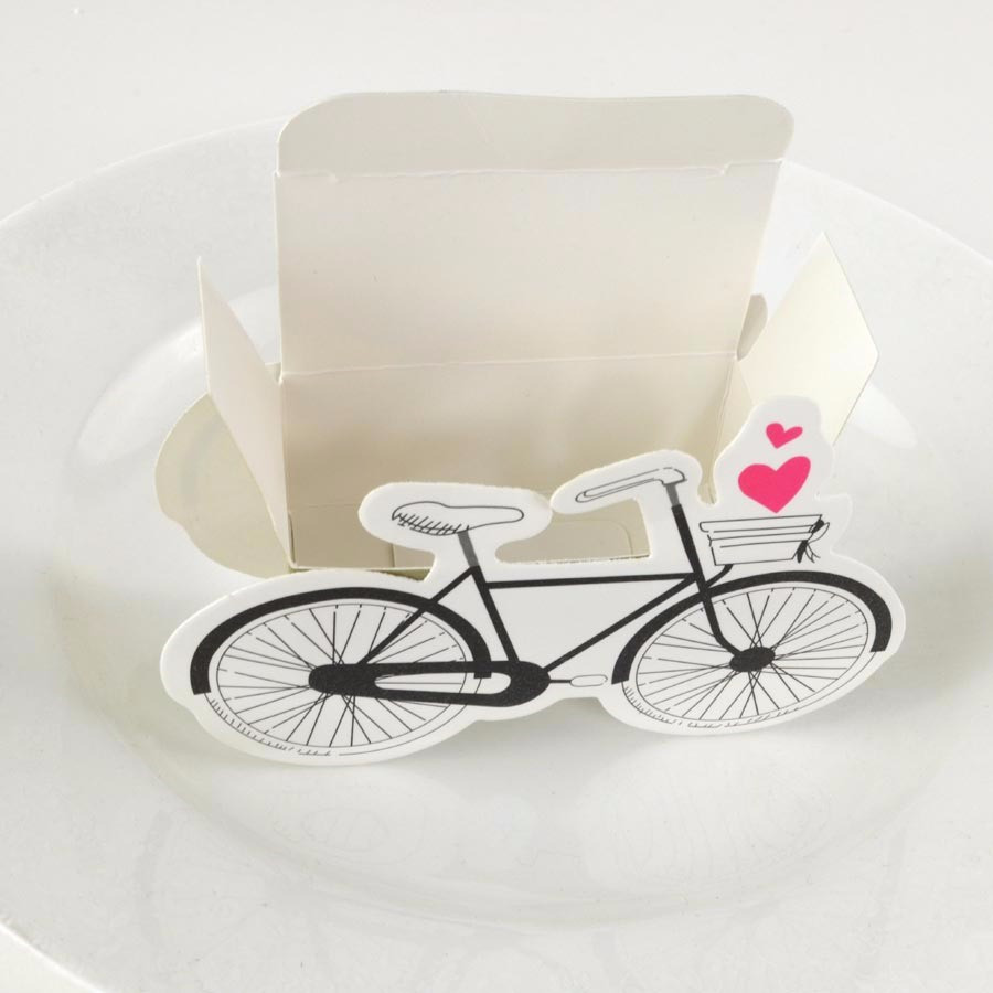 100pcs/lot Wedding Candy Box Bicycle Wedding Favor Cartoon Chocolate ...