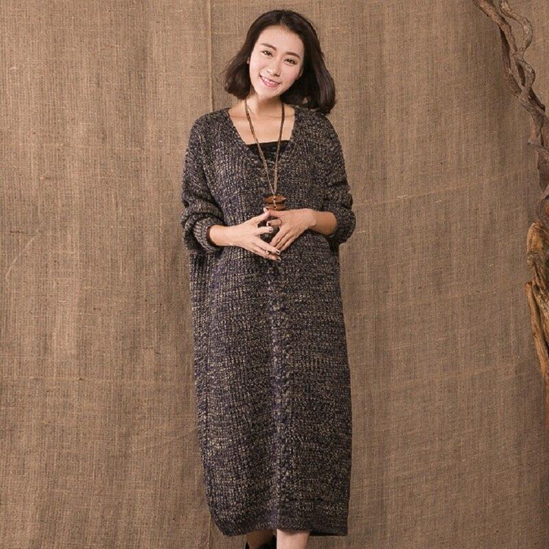 Nouveau automne/hiver femmes chandails maternité chandails manteau survêtement tricoté long grande taille chandail vêtements enceintes 16928