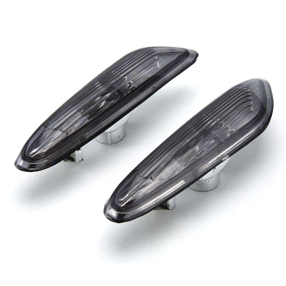 2pcs Esquerda + Direita Side Marcador de Turno Sinal Luzes Fumaça/Clear para Fender Lado Marcador de Luz Para BMW e90 E91 E92 E93 06-11