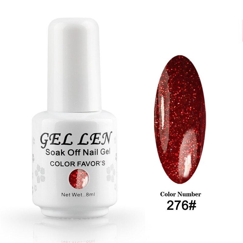 Three Free Nail Polish Brands List: Gel Len Glitter Nail Polish Brand UV Soak Off Gel Polish