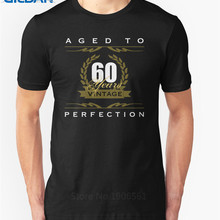 Funny Logo MenS Short Sleeve Birthday Aged To Perfection Vintage 60 Years Old Present S