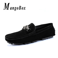 Spring Casual Leather Loafers Men Designer Slip On Mens Flats Sneakers Non Slip Rubber Walking Boat Shoes Driving Moccasins Men
