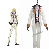 Bungou Stray Dogs Cosplay Costume Guild Francis Scott Fitzgerald Cosplay Uniform White Suit Outfit Halloween Costume Customized