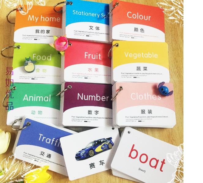4 Books/set,180 Chinese Mandarin Characters Booklet Cards In English Chinese ,learning Chinese Language For Kids And Baby