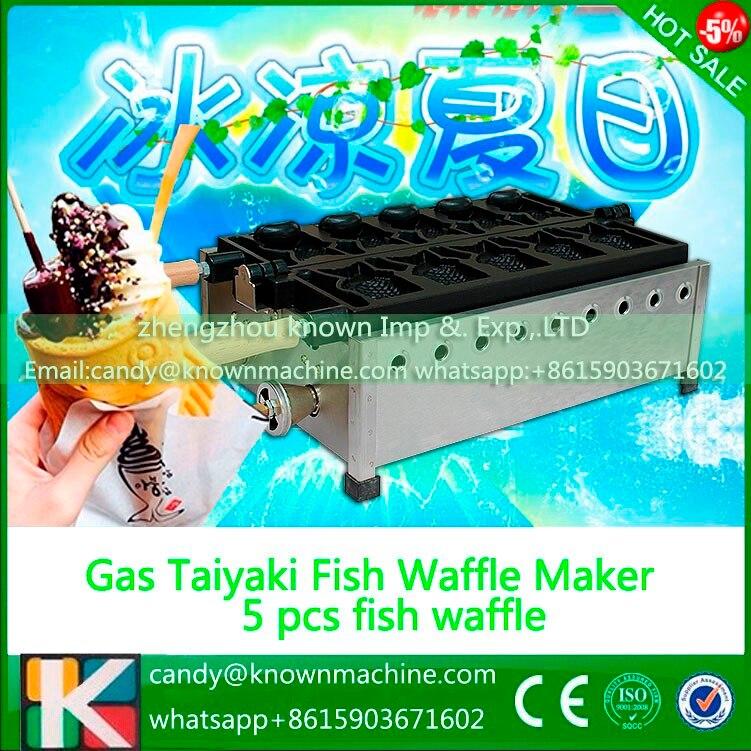 Fish Taiyaki Maker Machine with Recipe Fish Waffle Iron Snacks Equipment