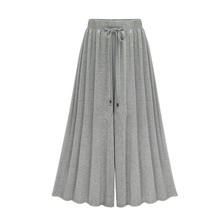 MOBTRS Fashion Plus Size Women Casual Loose Harem Pants Wide Leg Palazzo Culottes Stretch Trouser Female Clothing