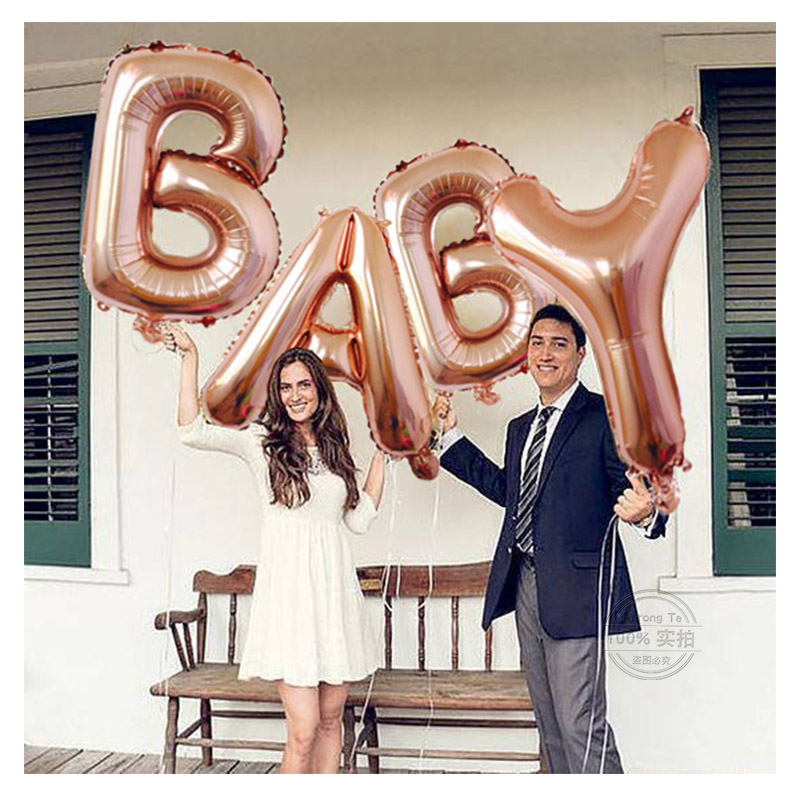 40 inch Rose Gold BABY Letter Foil Balloons Wedding Decoration Baby Shower Alphabet Helium Balloon Birthday Party Event Party