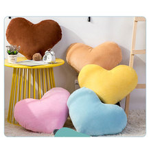 5 Color Candy Cute Heart Shape Pillow Plush Throw Soft Stuffed 3D Cotton Cushion 52CM Room Decorative For Gift