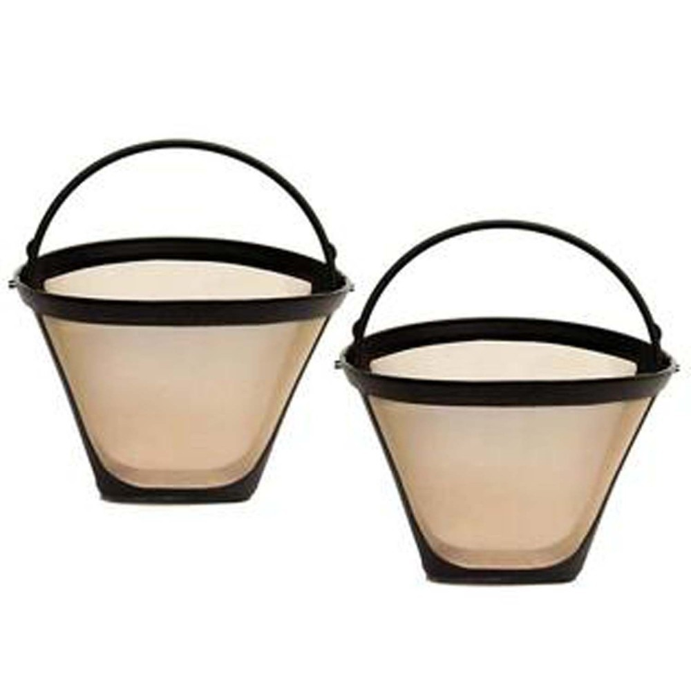 Stainless Steel Wire Mesh Coffee Filter Basket Medelco 4 Gold Cone Permanent