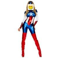 2017 Captain America Costume Super Hero Costume Skinny Zentai Movie Captain America Role Play Halloween Costumes