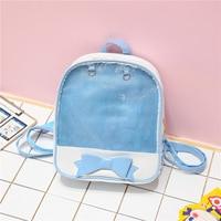 16fc84c9c4191 ... Large Capacity Backpack Bow Bag Transparent Pink Girl Cute Sister  BagNB016. US $26.60 US $19.95. 2018 indirim Kore büyük kapasiteli sırt  çantası yay ...