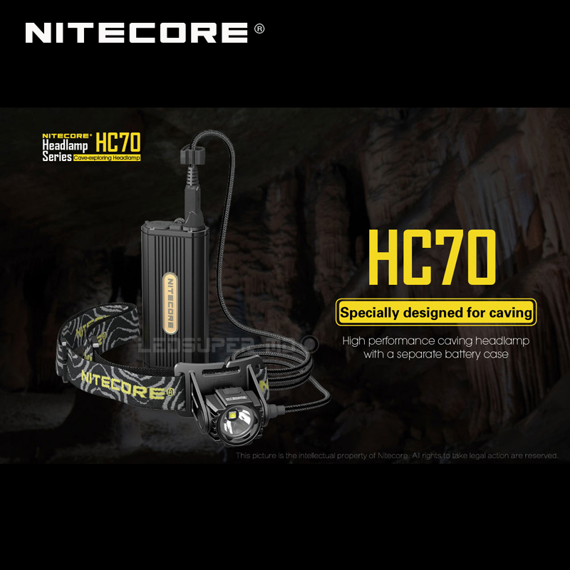1 pc best price Nitecore HC70 CREE XM L2 U2 LED 1000 lumens high performance rechargeable