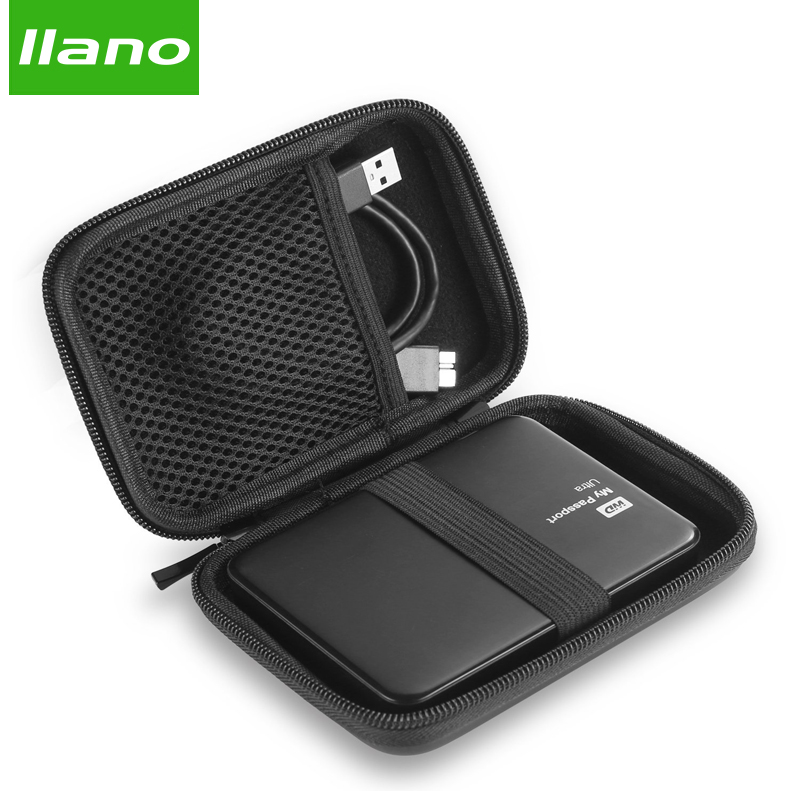 llano Power Bank Case Hard Case Box for Samsung Seagate 2.5 Hard Drive Disk USB Cable External Storage Carrying SSD HDD Case