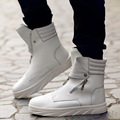 New 2016 High Top Autumn Ankle martin boots men Large size PU leather casual shoes Outdoor winter  Botas Hombre Sapatos Homme