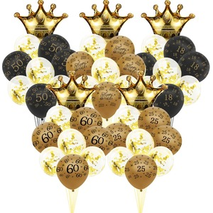 Gold Black 30 40 50 60 Years Latex Balloons Happy Birthday Gifts Decorations 18 25 Adult Ballons Helium Air Ball Party Supplies