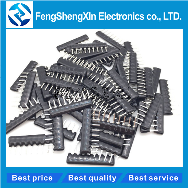 20pcs/lot Dip 1k 2k 4.7k 5.1k 6.8k 10k 100k 9pin 4pin 5pin Network Resistor Array,line Of Resistance A103g A102g A202g A472g Attractive And Durable