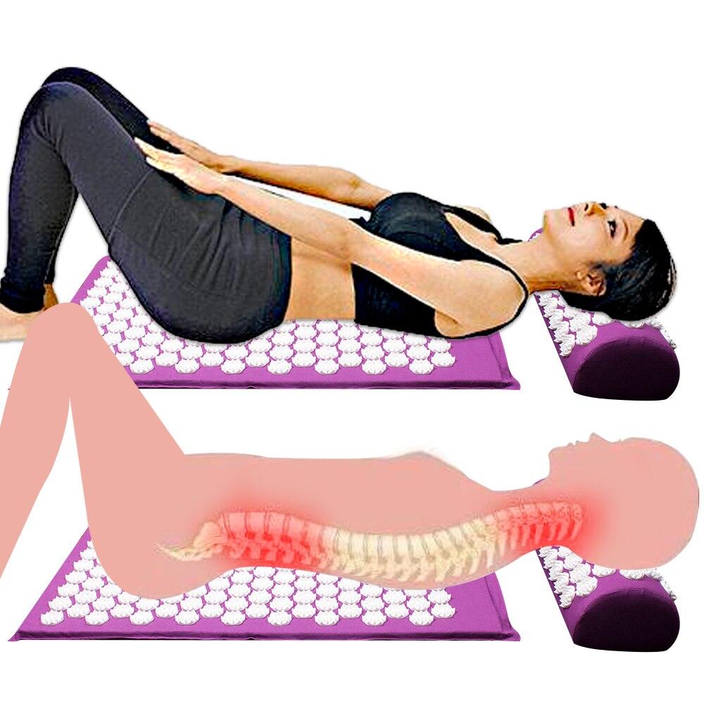 Image 2 - Estera de acupuntura de Espina de loto estera de acupresión estera almohada masaje de espalda corporal alivio del dolor relaja la relajación bolsa de cojín-in Masaje y relajación from Belleza y salud on AliExpress