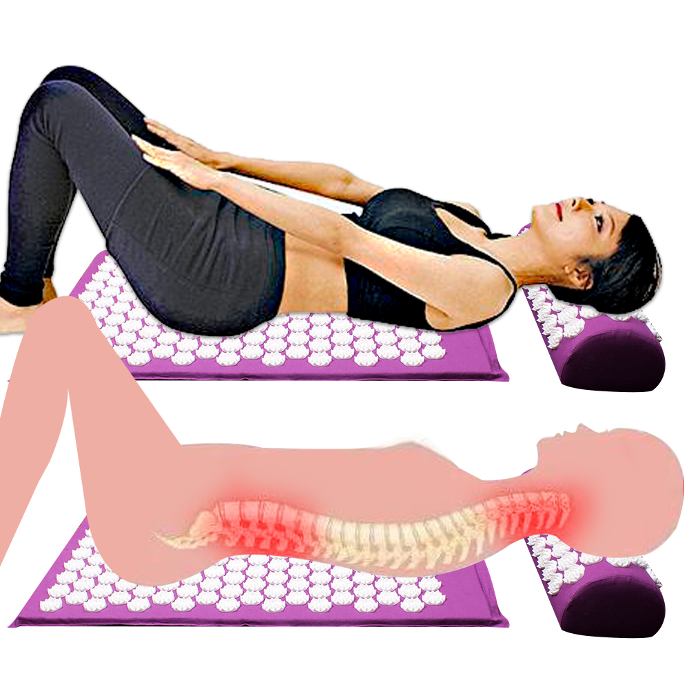 Image 2 - Lotus thorn acupuncture massage mat acupressure mat pillow body back massage pain relieve relax yourself Relaxation cushion bag-in Massage & Relaxation from Beauty & Health