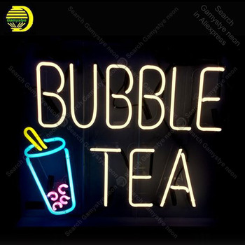 Bubble teaNeon Sign Neon Bulbs sign Iconic Beer Bar Club light Lamps Sign shop display advertise Letrero Neon enseigne lumine