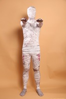 Classic Adult Halloween Costume Mummy Pattern Zentai Full Body Suit Lycra Cosplay Costumes Spandex Suit Catsuit