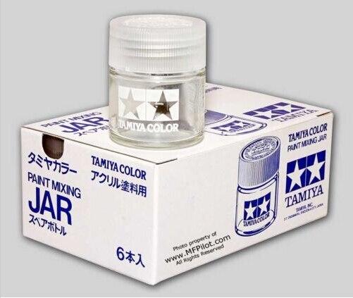 BOX (6pcs) 23cc Glass Jars w/ Screw Cap - Tamiya #81041 обои gaenari arete 81041 1