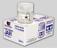 BOX (6pcs) 23cc Glass Jars w/ Screw Cap Tamiya #81041