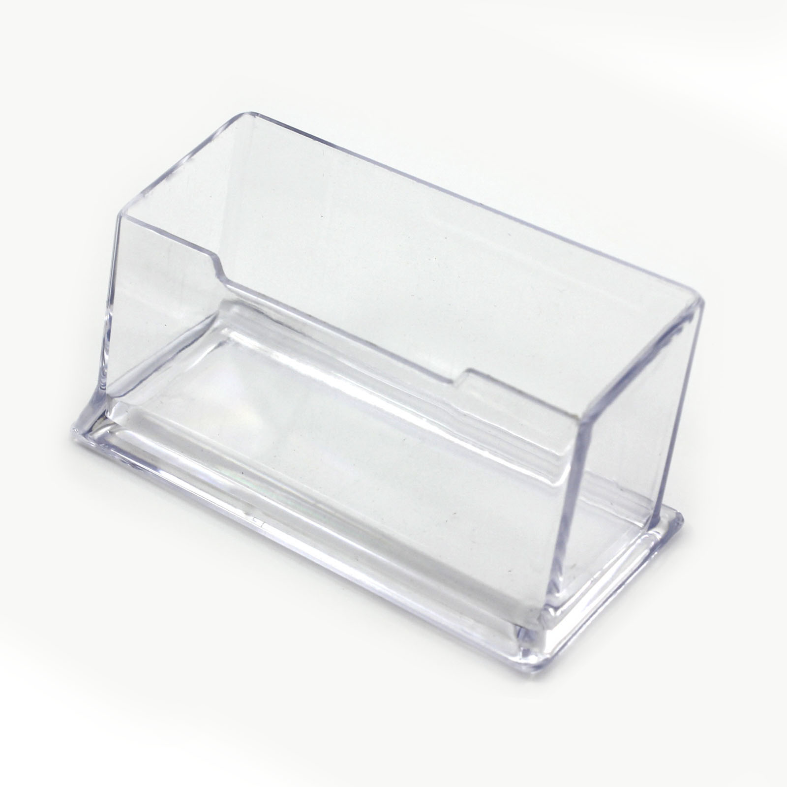 Practical Transparent Cuboid Acrylic Desktop Business Card Holder ...