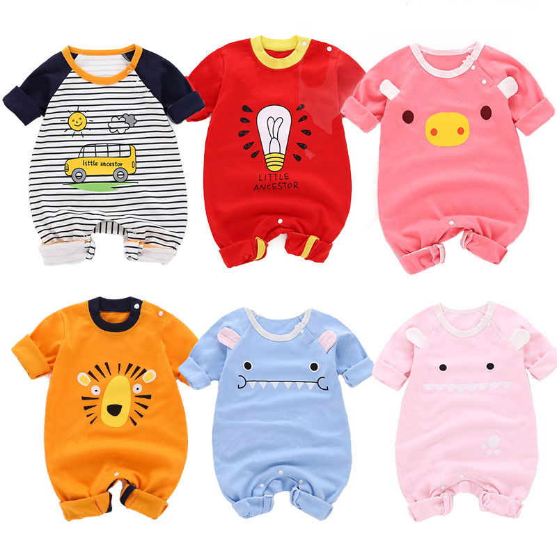 fashion baby boys clothes cartoon lion print newborn romper long sleeve baby girl cotton jumpsuit winter warm baby girls romper цены онлайн