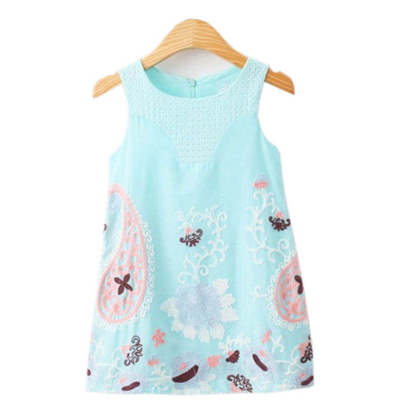 Gyerekek nyári ruha hímzés virág nyomtatás baba lány kisgyermek - Gyermekruházat