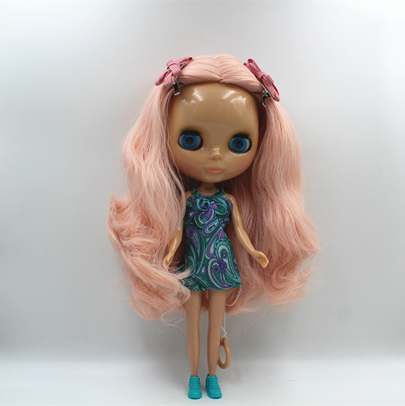 Free Shipping big discount RBL-406 DIY Nude Blyth doll birthday gift for girl 4colour big eyes doll with beautiful Hair cute toy 406