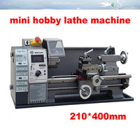 Best price Small household stepless variable speed 600w /210*400mm horizontal mini hobby lathe machine