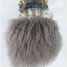 Монгольские Овцы из меха женская маленькая сумка с клапаном пляжная шерстяная сумка через плечо