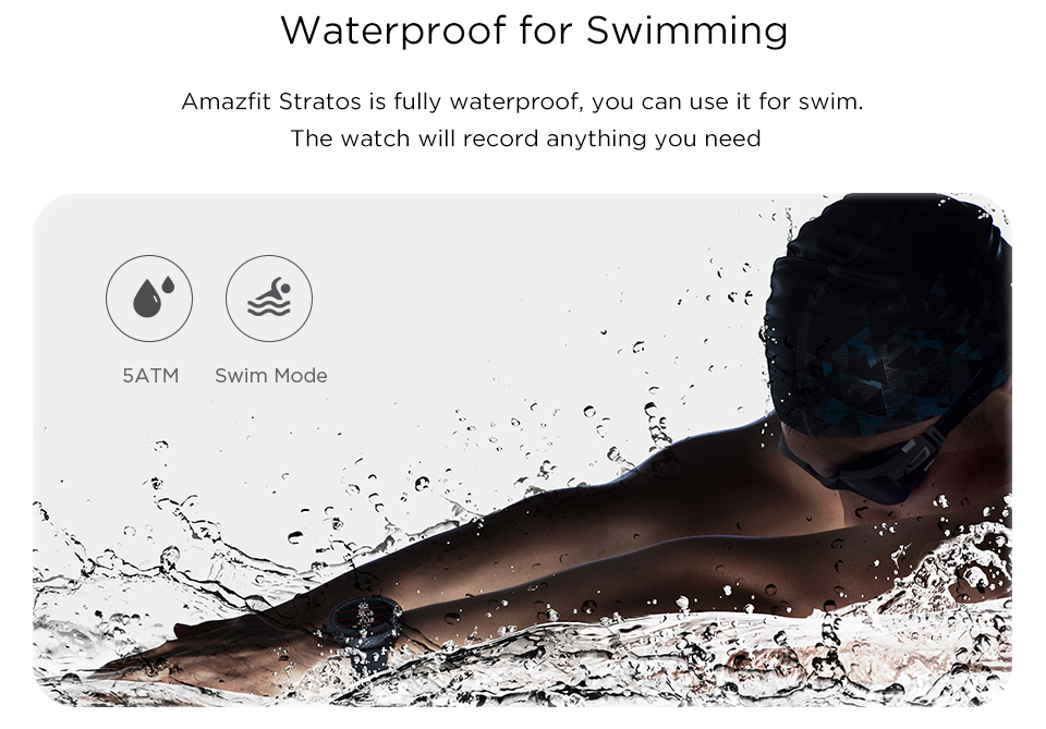 Amazfit-Stratos Pace-2 Waterproof Bluetooth Smartwatch
