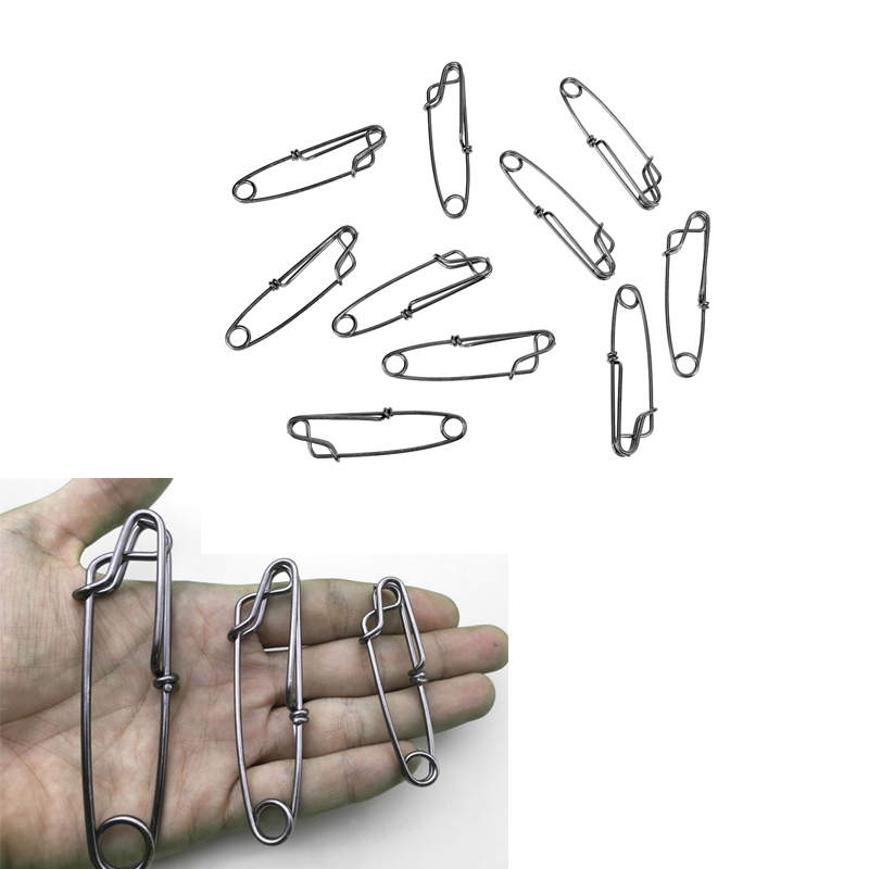 10 PCS Floatline / Tuna Clips Longline Branch Hangers Snap Stainless Steel Longline Snap Clip Sharking Tuna Crabbing Shrimping
