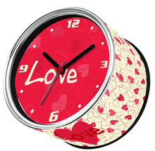 Only 6-10 Days Arrive To USA By E-Packet Air Shipping 2pcs/lot Saint Valentine's day Love Clock Funny Fridge Magnet Wall Clocks